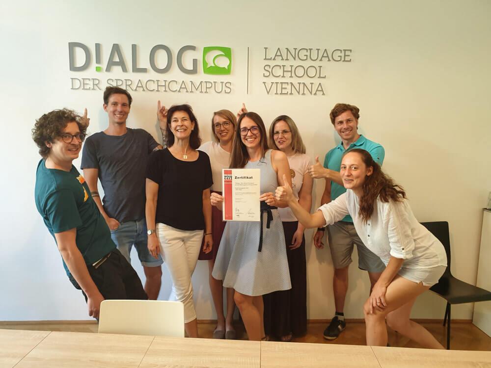 Sprachkurs Abschlussgruppe mit Zertifikaten